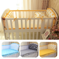 Breathable Baby Crib Bumper Sets Kids Safety Protector Cotton Infant Bed Cradle Guard Around Cushion Soft Bedding for Newborns