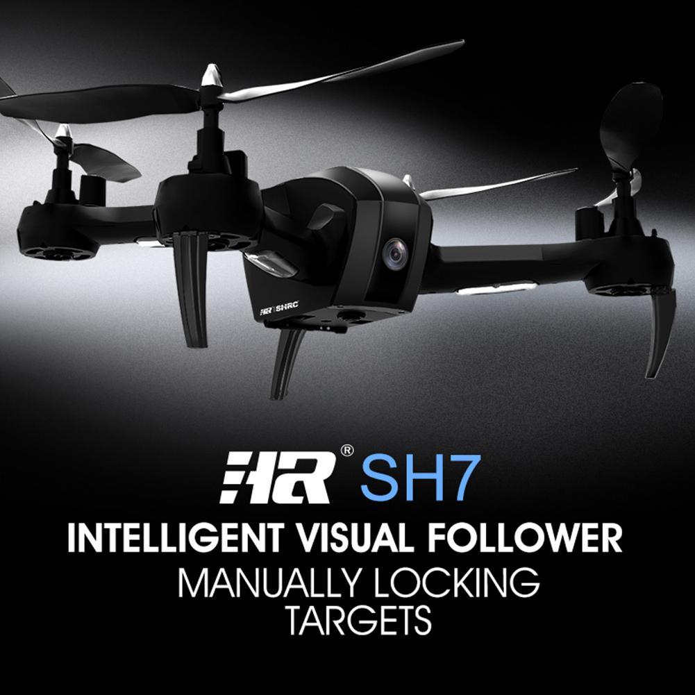 все цены на HR SH7 1080P WIFI FPV Camera Gesture Selfie Intelligent Follow RC Drone Remote Control Quadrocopter Drone with Camera онлайн