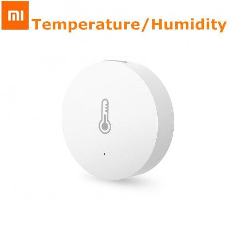imágenes para 2017 nueva original xiaomi inteligente mini sensor de humedad de temperatura de bolsillo casa inteligente automático para smart home suite
