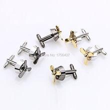 Men's Jewelry Propeller Airscrew Cufflinks Fan Cuff Links Silver Plane Fan Cufflink For Men Shirt cuffs Cufflink Best Gift