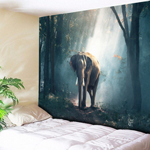 Elephant Wall Tapestry Home Decor Wall Hanging Big Carpets Sunshine Forest Tapestries Couch Blanket For Living Room Bedroom 79