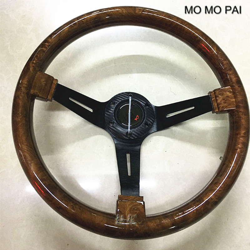 MOMO PAI car styling steering wheel / concave peach wood mahogany competitive racing retro ABS / Universal steering wheel статуэтка русские подарки африканка 6 х 11 х 20 см