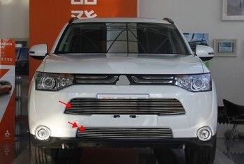 Phù hợp Cho Mitsubishi Outlander 2013 2014 2015 Nhôm hợp kim Auto Front Grille Khoảng Trims Racing Grills Trang Trí Trang Trí Xe
