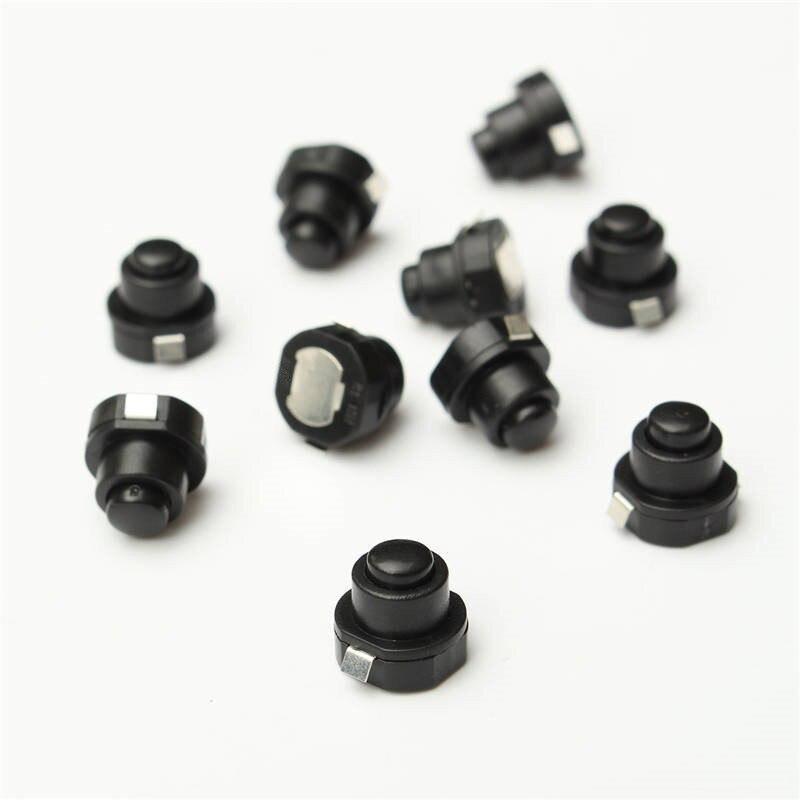 10PCS A Lot Flashlight Torch Part Round Push Button Switch Bla DC 30V 1A 10mm X 10mm (D*H) High Quality  For DIY Black