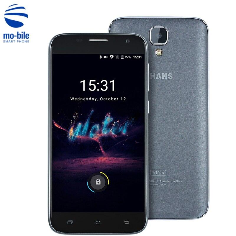 Цена за Оригинал UHANS A101S Android 6.0 5.0 дюймов 3 Г Смартфон MTK6580 1.3 ГГц Quad Core 1.3 ГГц 2 ГБ RAM 16 ГБ ROM 8.0MP Мобильный Сотовый Телефон
