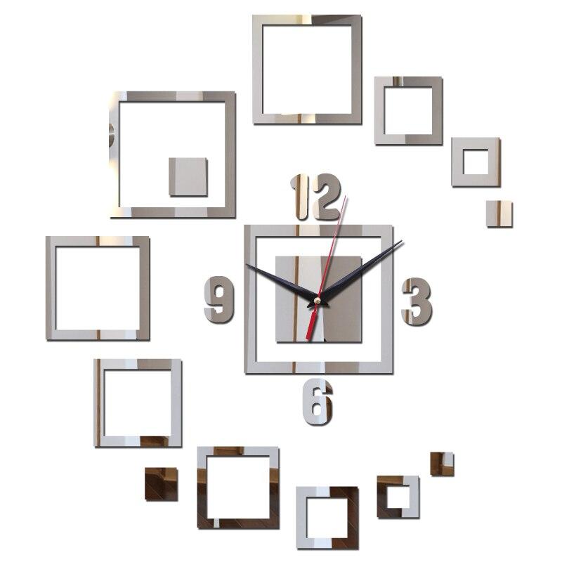 Горячая Распродажа 2017 года стикер часы домашнего декора акрил зеркальная поверхность современная мебель DIY наклейки Искусство натюрморт