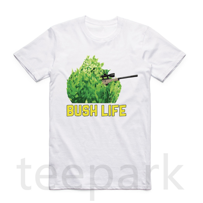 Asian Size Men And Women Print Fortnite T-shirt Summer O-Neck Short Sleeves IM A Bush Funny Gamer T-shirt HCP4430 ...