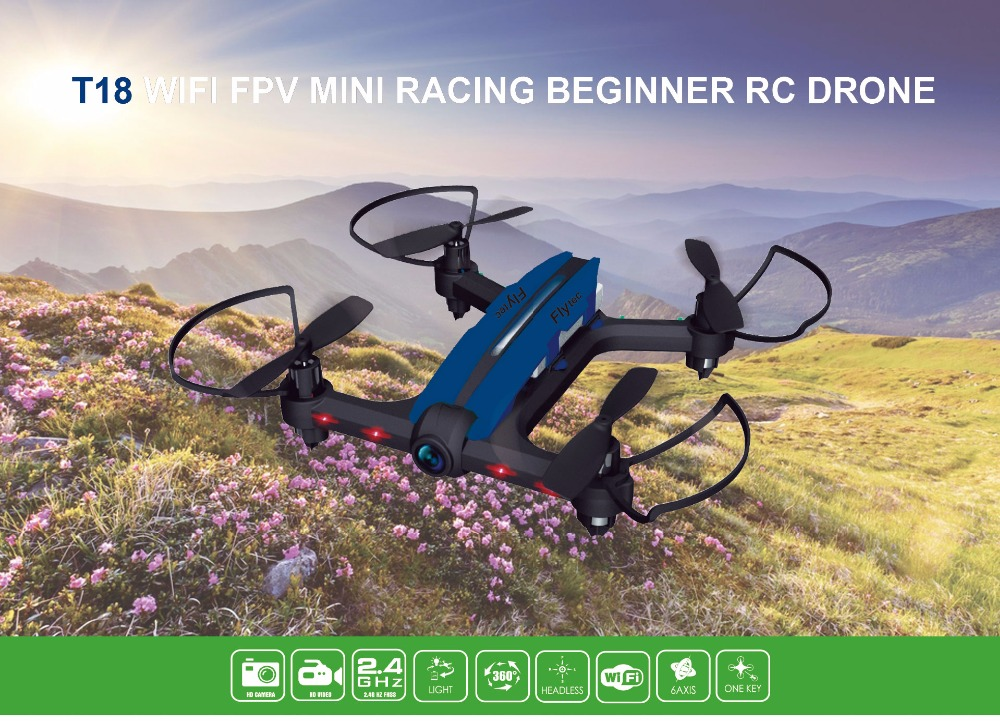 Flytec T18 Wifi FPV Mini Drone 6 axis 2.4GHz 4 Channels RC Racing Quadcopter 720P video Camera FPV Helicopter