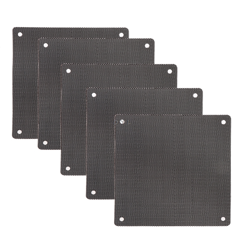 5Pc Computer Mesh PVC Case Fan Dust Filter Dustproof Cover Chassis Dust Cover 12cm X 12cm
