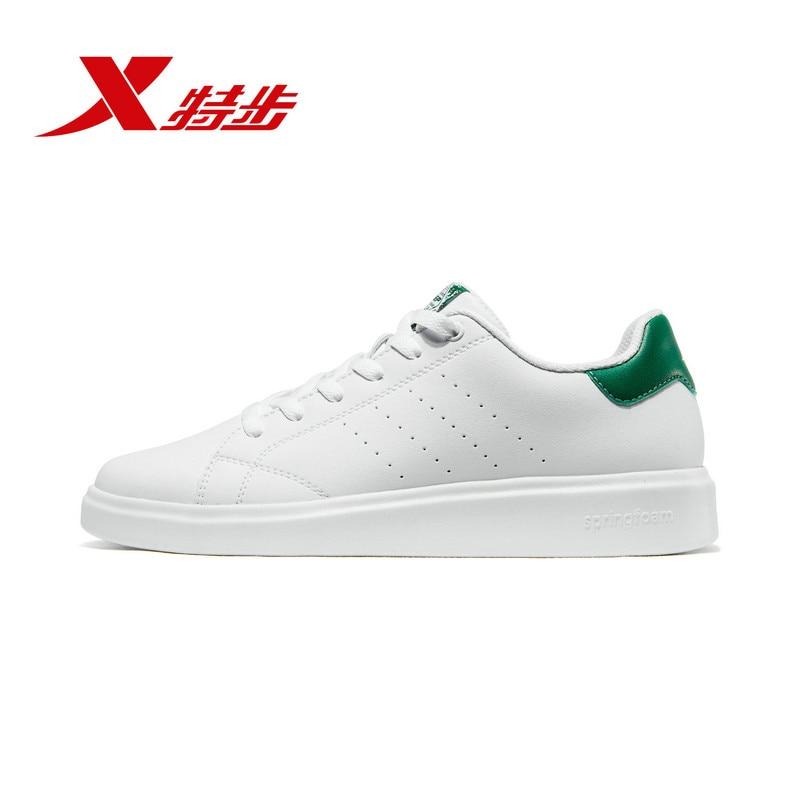 Купить с кэшбэком Xtep Men Skateboarding Shoes Spring Sports Sneakers For Men Small White Casual Skateboarding Shoe 881119319333