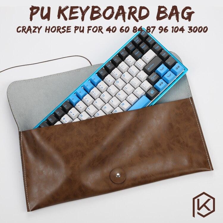 Soft Pu Keyboard Carrying Case Bag For Planck Preonic Gh60 Xd64 Tada68 87 104 Va68 K65 K70 K95 3000 3494