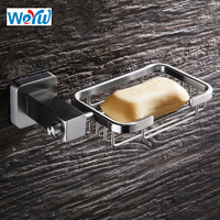 WEYUU Soap Dishes SUS304 Stainless Steel Toilet Soap Holder Wall Mounted Bathroom Accessories Wire drawing