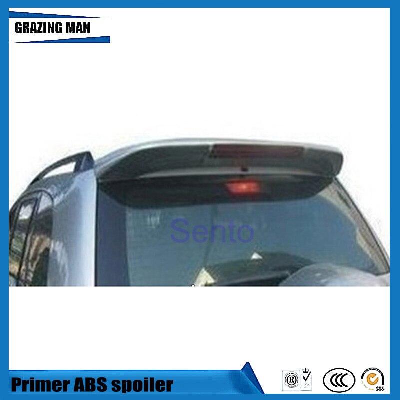 Hot sale ABS Primer Unpainted Car Rear Roof Spoiler for RAV4 RAV 4 2001 2007