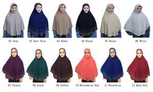 Image 2 - Nieuwe Moslim Vrouwen Amira Gebed Hoed Hijab Sjaal Headwrap Overhead Cover Khimar Islamitische Hoofddoek Volledige Cover Hijab Arabische Sjaal Nieuwe