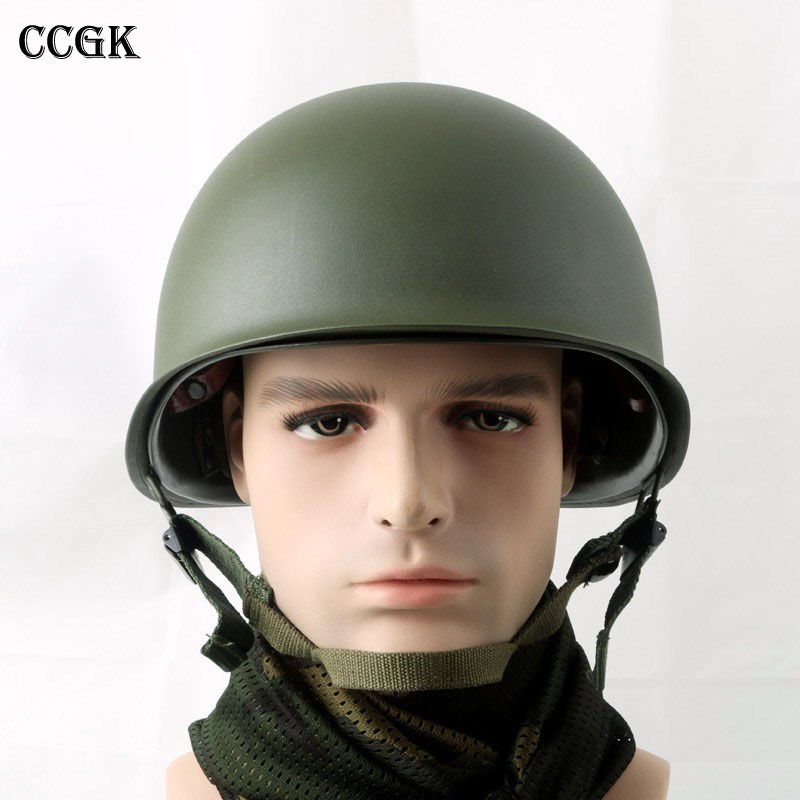 CCGK Double layer M1 Helmet Steel and ABS Safety Helmet Military Tactical Protective Equipment Outdoor CS Survival Collection sw5888 protective abs tactical cycling wild gaming helmet camouflage yellow black