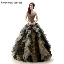 Forevergracedress Real Pictures Ruffles Sweetheart Quinceanera Dress New Leopard Print Organza Long Formal Party Gown Plus Size