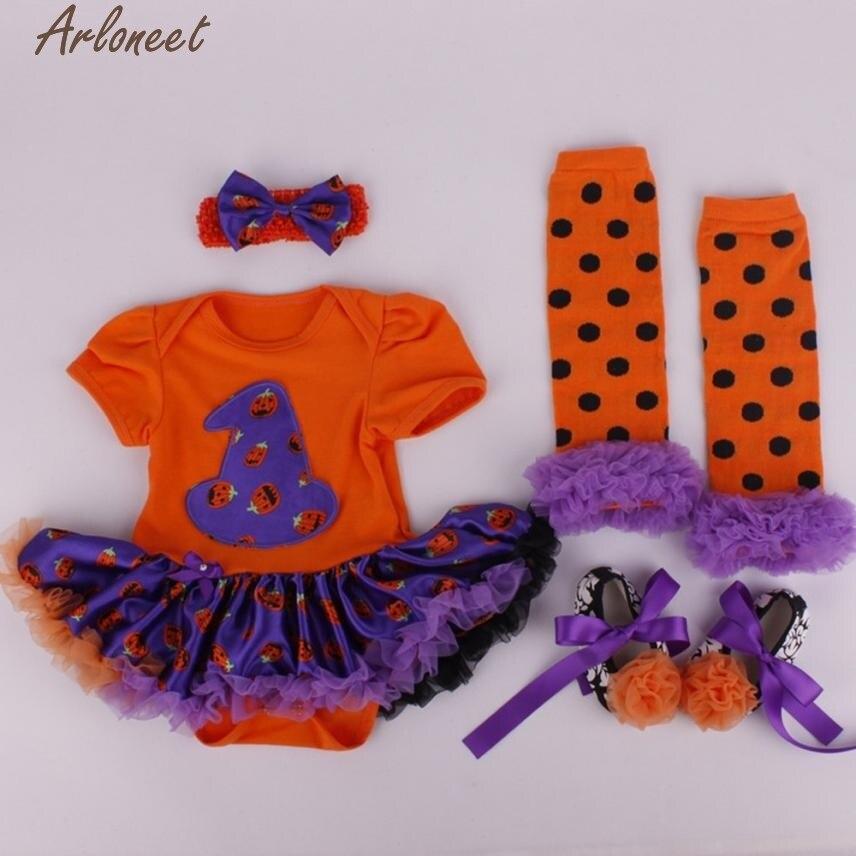 Christmas Pajamas Dress For Baby Girls 4PC Baby Girl Prewalker Dress Hairband Socks Floral Romper Bodysuit Dress Cotton &