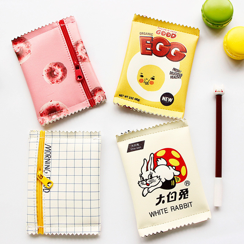 Korean Girls Cartoon Mini Coin Purse Children Kawaii Zipper Coin Wallet PU Coin Pouch Women Snacks Small Money Bag