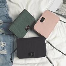Fashion Simple Small Square Bag Women's Handbag 2019 High-quality PU Leather Cha
