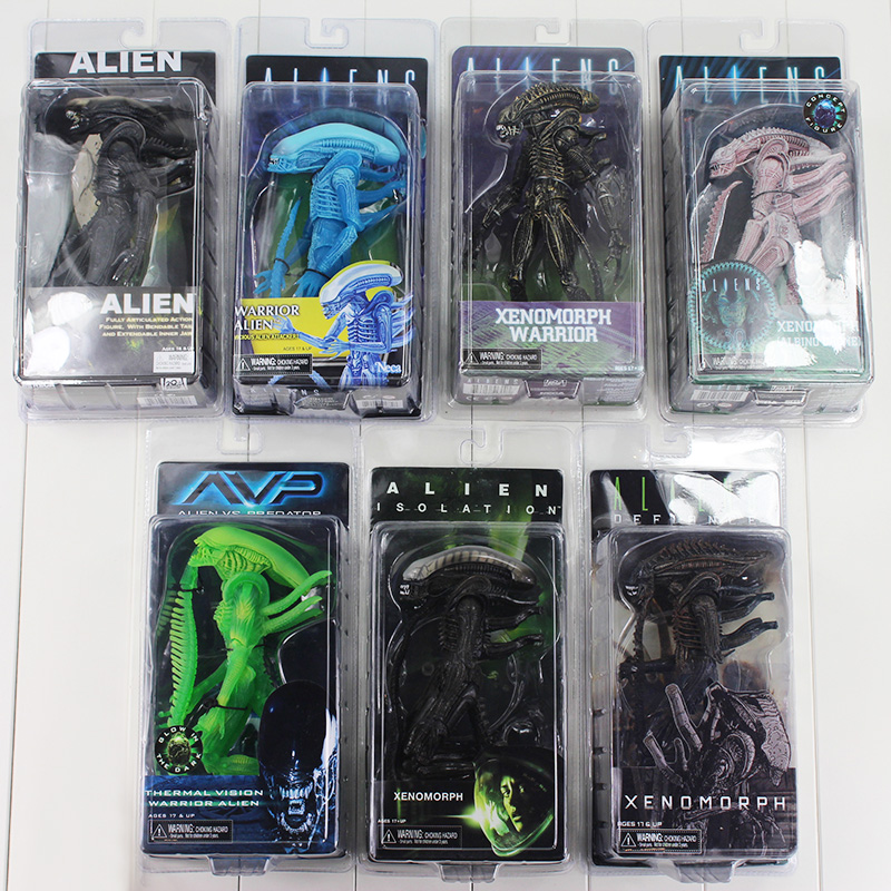 20cm Alien:Isolation Covenant AVP Xenomorph Warrior Series Alien vs. Predator Thermal Vision PVC Action Figure Toy цена