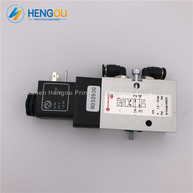 5 Pieces Free Shipping Heidelberg Solenoid Valve 98.184.1051 for CD102 SM102 Printing Machine Cylinder Valve Unit pc400 5 pc400lc 5 pc300lc 5 pc300 5 excavator hydraulic pump solenoid valve 708 23 18272 for komatsu