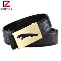 DESTINY Famous Designer Belt Men High Quality Male Genuine Leather Strap Waist Wedding Luxury Logo Brand