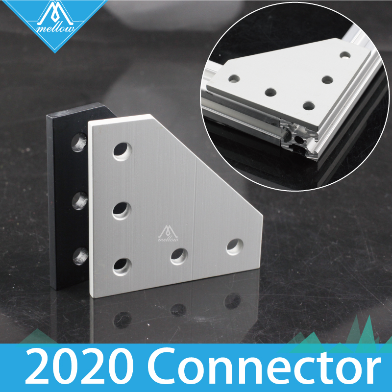 1pcs L-Shape 2020 Aluminum Profile Interior Corner Connector Joint Bracket For 3D Printer 2020 Alu-profile  Frame