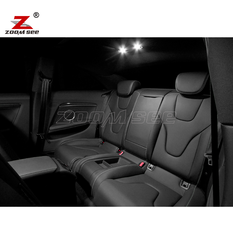 14 шт. светодиодный передний купольный фонарь+ задний+ туалетное зеркало+ багажник+ перчатка+ дверные Внутренние огни комплект для Audi A5 S5 RS5 B8(08-15