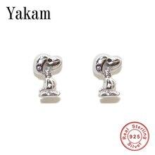 Cartoon Anime 925 Sterling Silver Earring Cute Animal Anopy Stud Earrings for Women Girl Dog Fashion Kawaii Jewelry Berloque New