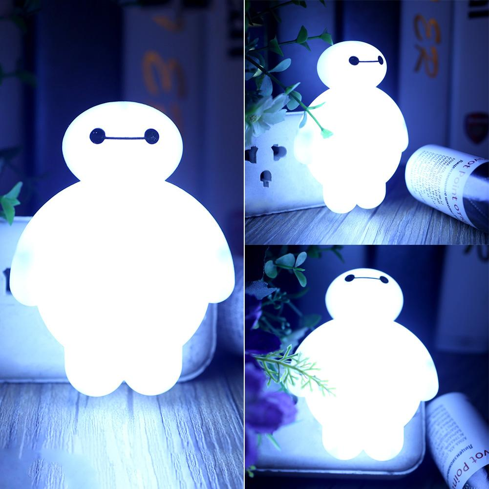 Baymax sensor led night night light bedroom bulb energy for Bedroom night light
