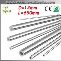 L650mm 2pcs D12mm chromed Cylinder Linear Rail Round Rod Shaft Linear Motion guide rail round rod Shaft CNC XYZ Free shipping