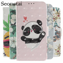 XS Max Luxury PU Leather Case For iPhone 7 Plus 6S Plus Cover 5S 3D Flower Panda Dog Flip Wallet Cases For iPhone 8 Plus XR Capa цена в Москве и Питере