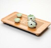 Simple modern Chinese kungfu tea ware tray 49*26.5*4cm bamboo tea tray creative family hotel tray storage drain/bamboo tea tray
