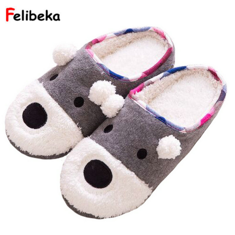 Drop shipping home coral velvet dog/bear slippers candy colored soft slipper rubber sole shoes home men slippers image