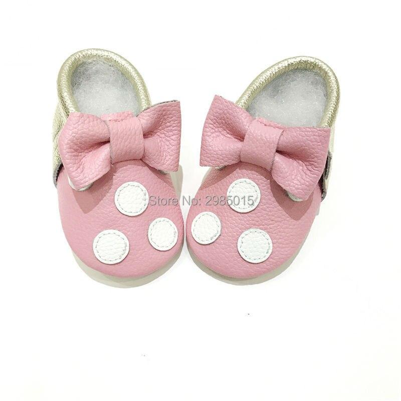 Hete verkoop van hoge kwaliteit baby meisjes schoenen echt leer - Baby schoentjes - Foto 4