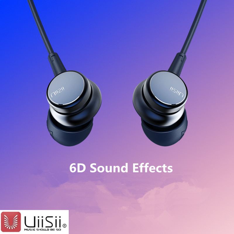 UiiSii HM9 13 Wholesale Wired Noise Cancelling Dynamic Heavy Bass Music Metal In-ear with Mic Earphone for iphone huawei xiaomi