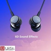 UiiSii HM9/13 toptan kablolu gürültü iptal dinamik ağır bas müzik Metal mikrofon ile kablolu kulaklık iphone huawei xiaomi