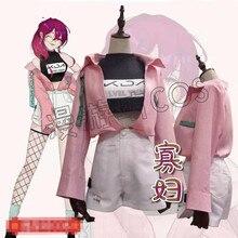 Anime cosplay 2019 LOL KDA costumes Evelynn Fan-fiction version kda uniforms pink shirt full sets A