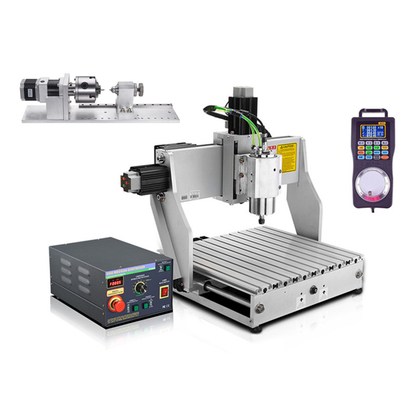 2.2 Kw CNC Mini Router Machine 3040 Industrial Engraving Machine 300*400 Working Area With Water-cooled Spindle And Handwheel