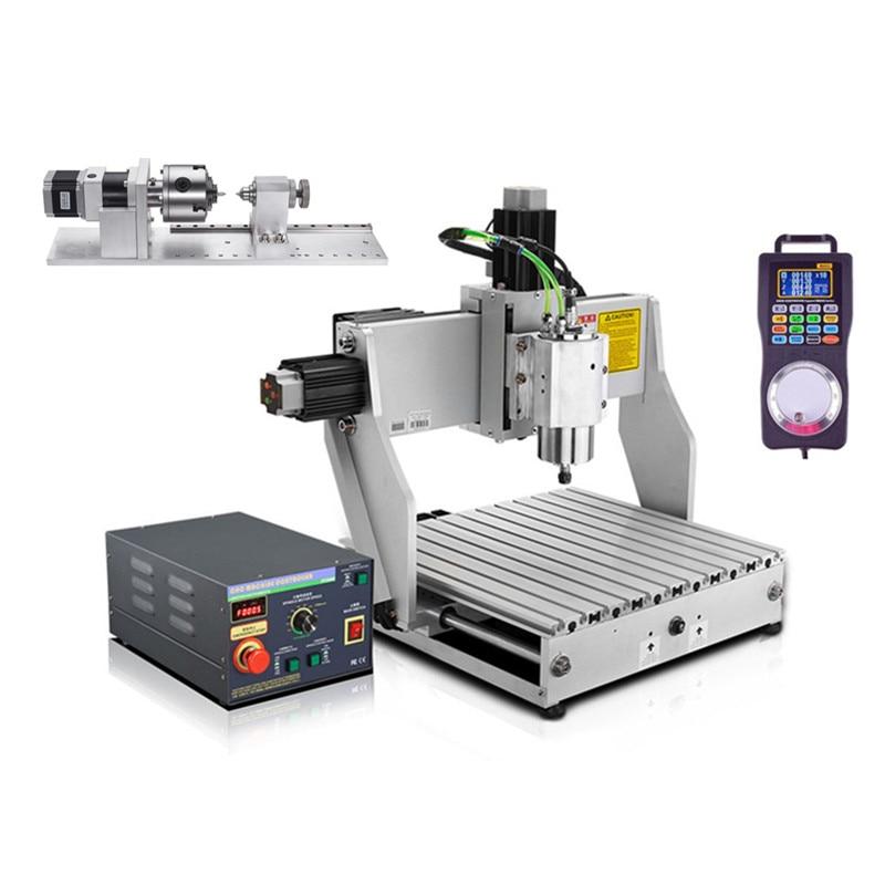 2.2 kw CNC mini routeur machine 3040 machine de gravure industrielle 300*400 zone de travail avec broche refroidie à l'eau et volant