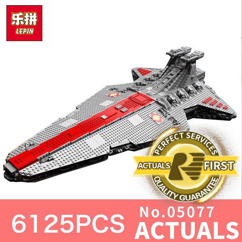 Star Destroyer Wars LegoINGly 6125Pcs Lepin 05077 Classic ucs Republic Cruiser funny Building Blocks Bricks Toys Model Gift lepin 6125 stucke star classic modell wars die ucs st04 republic cruiser educational building blocks bricks spielzeug mode