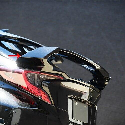 Nouveauté COURT TYPE TROIS PARTIE CARBONE RÉEL de la VOITURE SPOILER POUR Toyota CHR C-HR 2017 2018 2019 accessoires de voiture