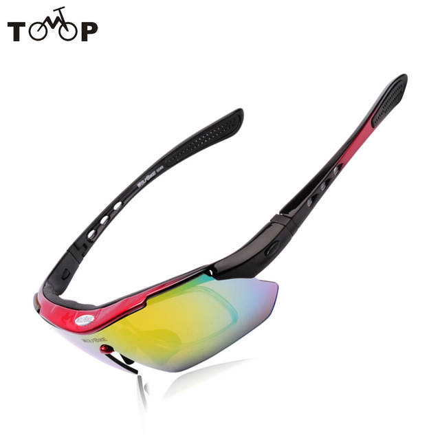 c1226cd8d7 NUEVO 2016 Marca WOLFBIKE Hombres/Mujeres Ciclismo Gafas Recubrimiento  UV400 gafas de Sol Polarizadas Gafas