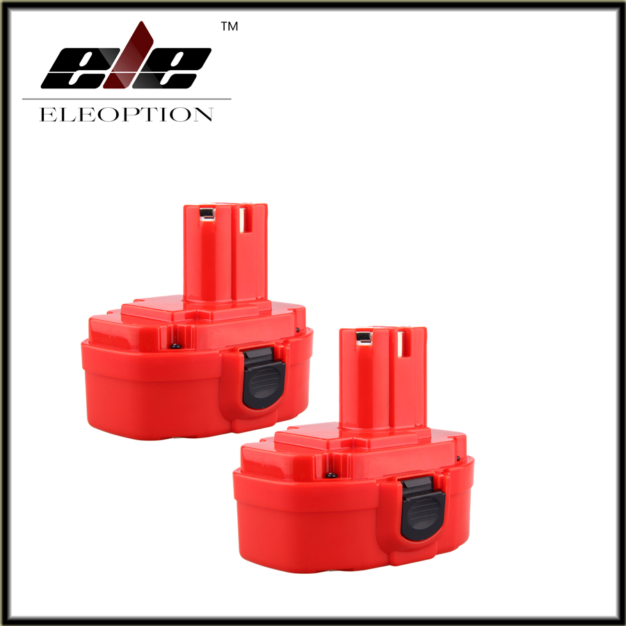 2pcs 18v 2000mah Ni Cd Red Rechargeable Power Tool Battery