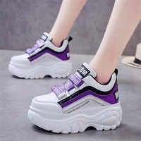 Mhysa 2019 New Women sneakers Fashion White Platform Sneakers Ladies Chunky Causal Shoes Woman Leather Shoes Chaussure Femme