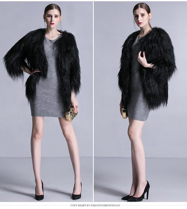 European Runway Style Genuine Sheep Goat Fur Fashion Warm Winter Fur Coat Women Winter Long Hair Goat Fur Coats Luxury 6XL