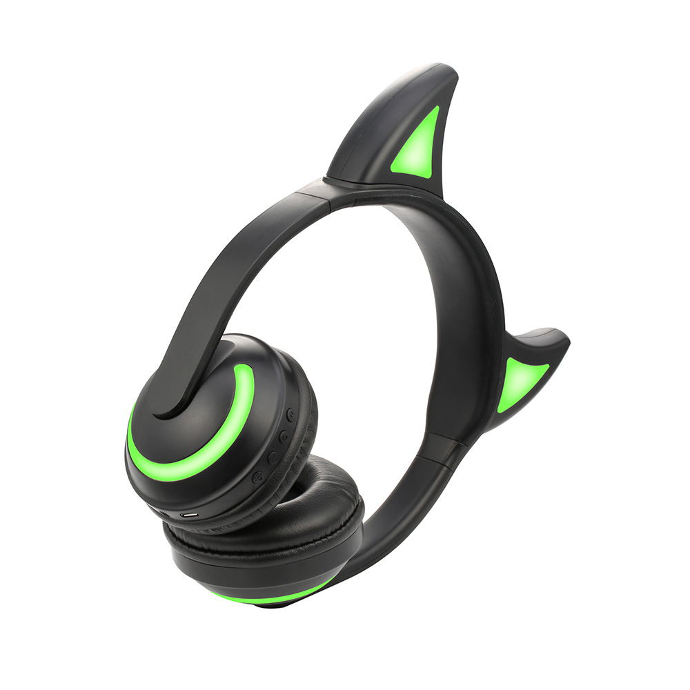 Devil Ear Headphones Color changing Wireless Bluetooth Stereo Flashing Bright LED Multi-Color Changing