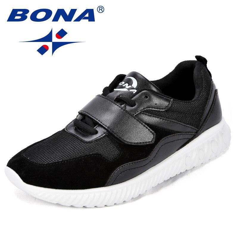 BONA nouveauté Style populaire hommes chaussures de marche maille hommes chaussures de sport à lacets hommes chaussures de Jogging en plein air chaussures de sport confortables
