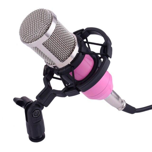 BM800 БМ-800 Конденсаторный Кардиоидный КТВ Микрофон Pro Audio Studio Запись Вокала Микрофонный Комплект КТВ Караоке с Подвесом