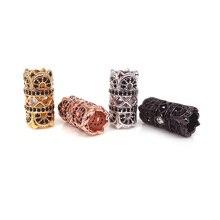 DIY Черный CZ прокладка большого отверстия Бисер 8x13 мм полые Медь проложить кубические циркониевые бусины для изготовления ювелирных изделий Браслеты Поиск